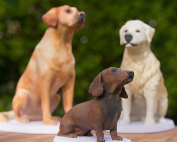 3d printed unique dog figurines by Mon Petit Chien