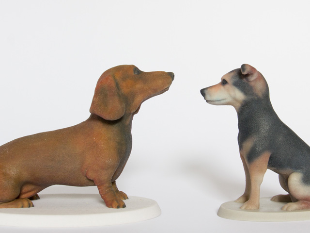 Custom dog figurines by Mon Petit Chien