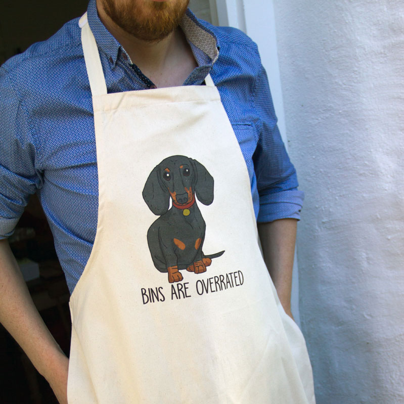 Dachshund Apron for dads on Father's Day