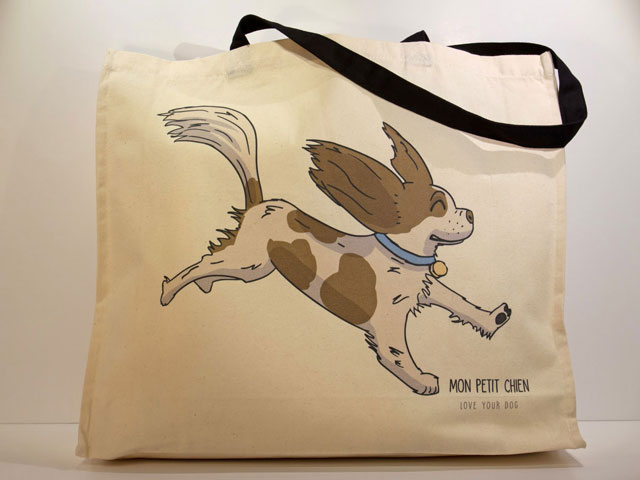 Cavalier King Charles Spaniel tote bag by Mon Petit Chien
