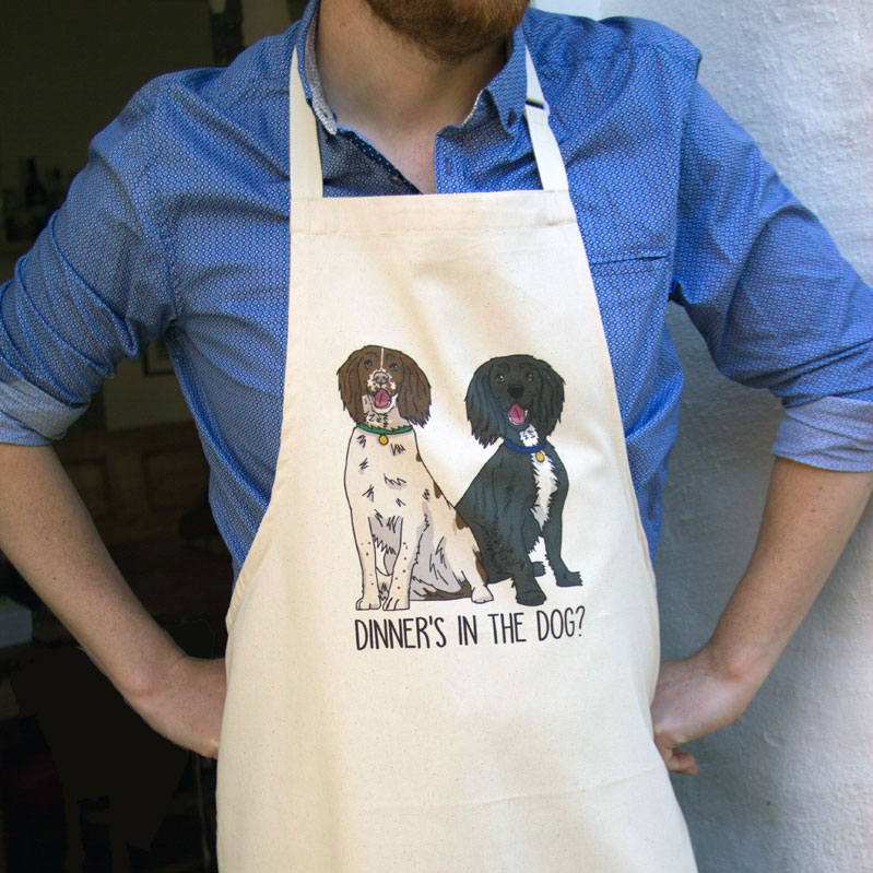 Spaniel Apron for dads on Father's Day
