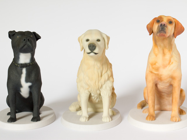 Unique dog memorial sculptures by Mon Petit Chien