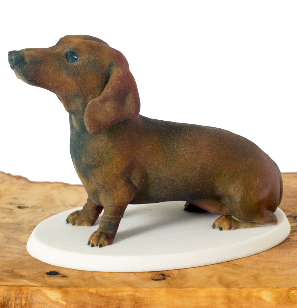 3d printed dog figurine dachshund by Mon Petit Chien