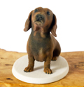 Joey the Dachshund 3d printed sculpture
