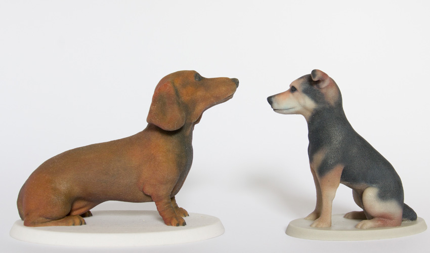 Small sized 3d printed unique sculptures of your dog by Mon Petit Chien