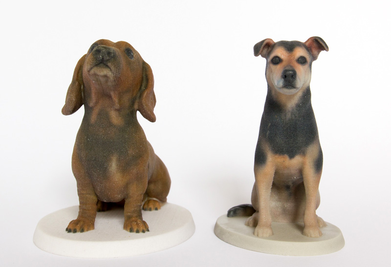 Small 3d printed unique models of your dog by Mon Petit Chien