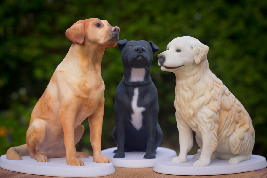 3d printed dog figurines at Mon Petit Chien