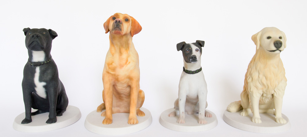 Large 3d printed sculptures of your dog by Mon Petit Chien