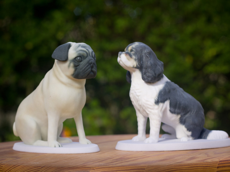 Medium sized 3d printed figurines of your dog