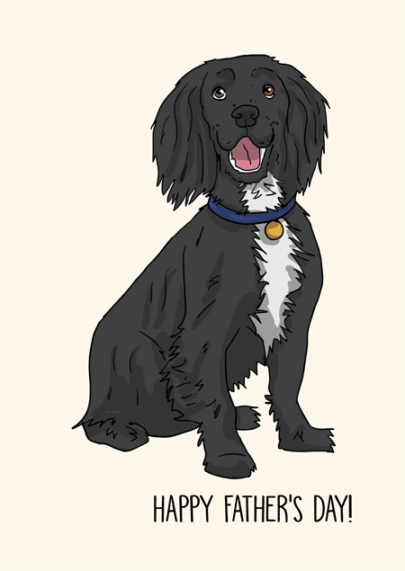 Cocker spaniel father's day card by Mon Petit Chien