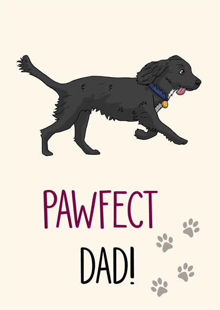 Pawfect dad cocker spaniel father's day card by Mon Petit Chien
