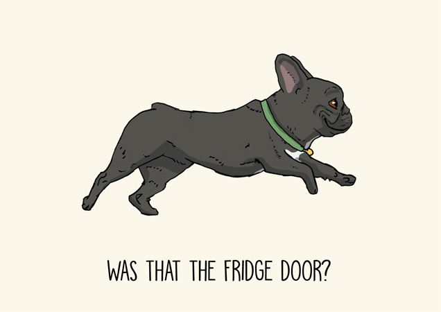 Frenchie funny greeting card by Mon Petit Chien