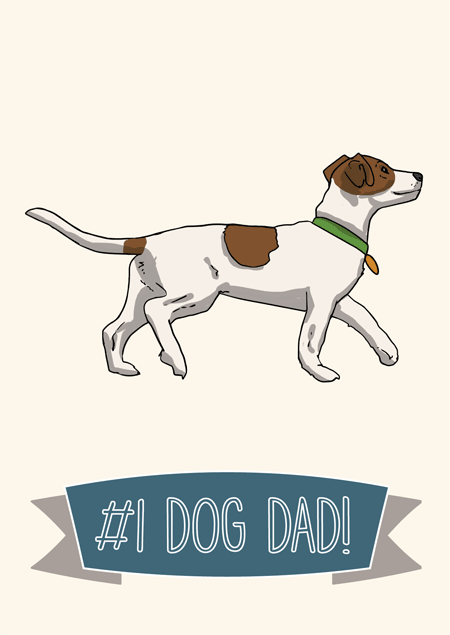 #1 dog dad father's day card for Jack Russell fans by Mon Petit Chien