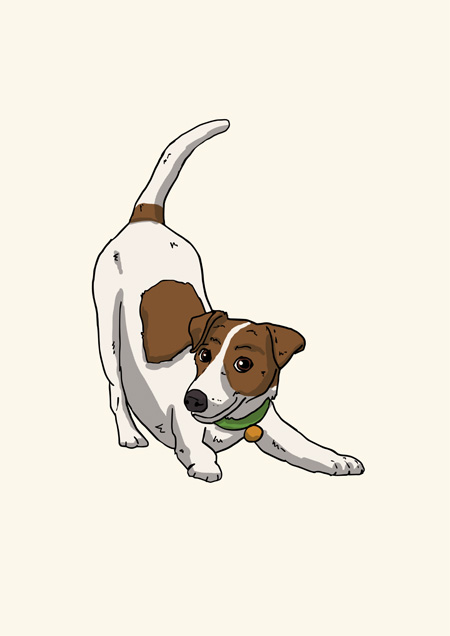 Jack Russell blank greeting card by Mon Petit Chien