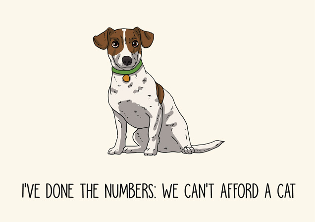 I've done the numbers.. Funny jack russell greeting card by Mon Petit Chien