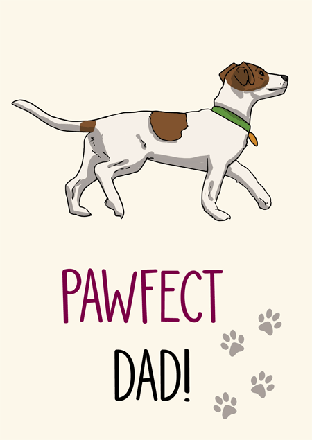 Pawfect dad jack russell father's day card by Mon Petit Chien