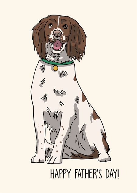 Springer spaniel father's day card by Mon Petit Chien