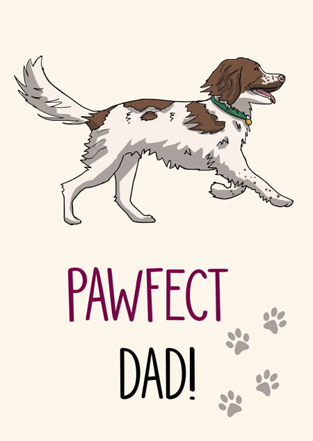 Pawfect dad springer spaniel father's day card by Mon Petit Chien