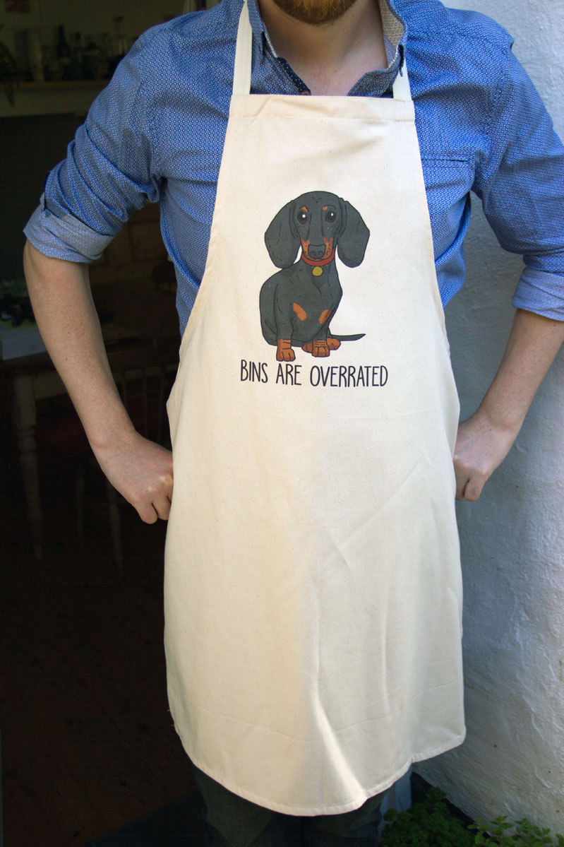 Dachshund apron for dachshund dads by Mon Petit Chien