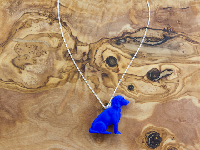 Blue cocker spaniel necklace 3d printed by Mon Petit Chien