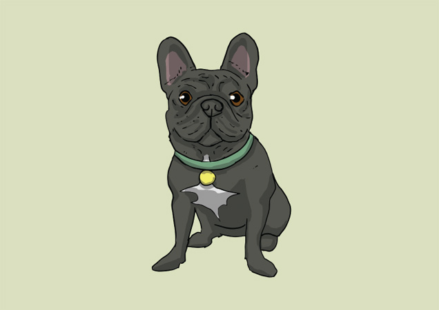Lovely French Bulldog postcard by Mon Petit Chien